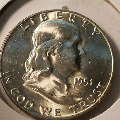 UNCIRCULATED 1951 D Franklin Silver Half Dollar