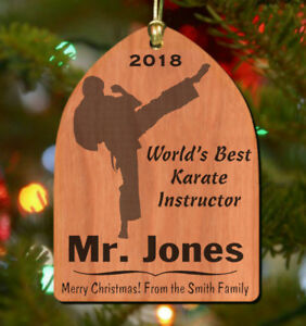 Karate Instructor Christmas Ornament, Personalized! Great ...