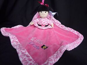 5b9c595114 Details about Little Diva Born to Shop Rattle Lovey Security Blanket  Reversible Pink 14