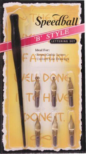 Speedball 2956 B Style Lettering Dip Pen Set