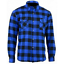 thumbnail 4 - Men Motorcycle Plaid Flannel Lumberjack Shirt Reinforced w/ Protective Lining