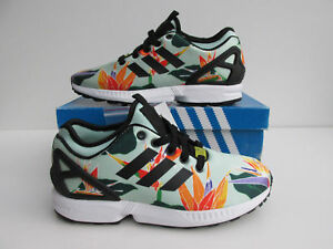 7ab4c8c3fe79d Details about bnib ADIDAS ZX Flux NPS floral tropica UK 4.5 torsion B34468