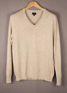 J.Crew Herren Merino Wolle Freizeit Pullover Sweatshirt GRÖSSE S ASZ33