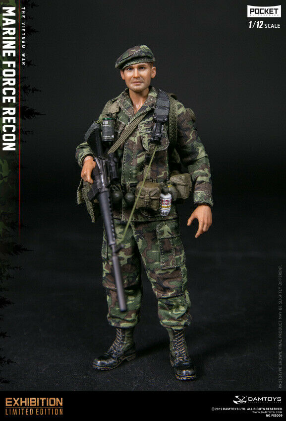 In-stock 1 12 Scale DAMTOYS PES009 Marine Force Recon Vietnam 6in Action Figure