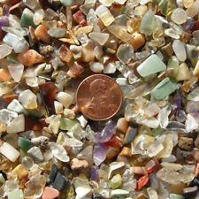 Colorful Mixed Stone & Crystal Gem Chips Tiny Small Polished Stones 1/2 LB Lot