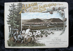 Litho-Album-Bad-Lauterberg-Harz-Umgebung-um-1900-Bruno-Buerger-Zwerge