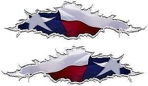 Texas flag ripped motorcycle go kart race car truck semi vinyl graphic decal