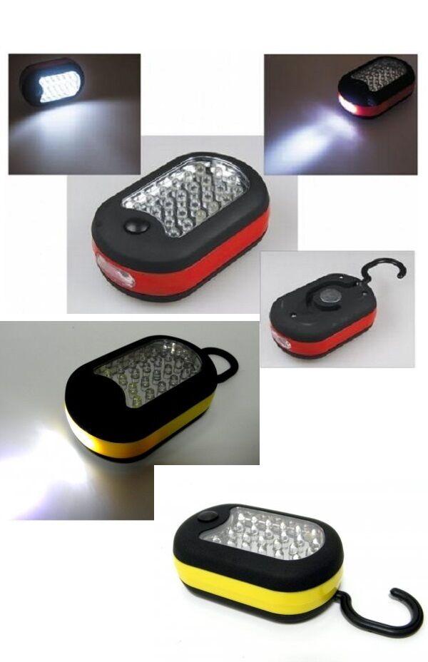 Camping-, travail Lampe 24 + 3 LED Lampe de de de poche avec crochet incl. Batteri 8f2422