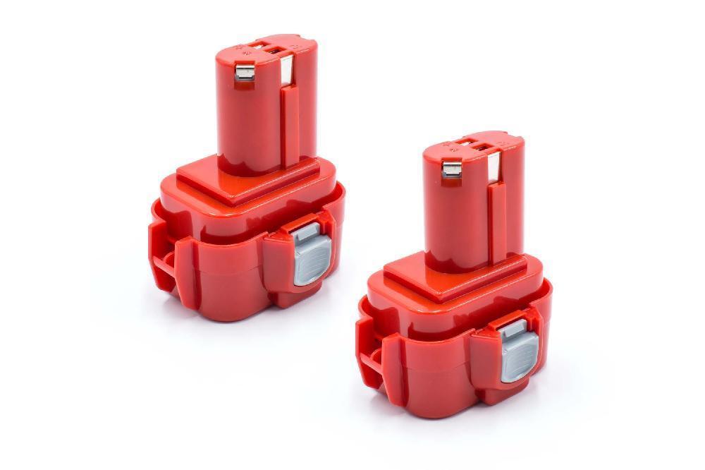 2x WERKZEUG Batterie 9.6V 1500mAh für Makita 6201D, 6201DW