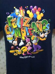Image Is Loading FELIZ CUMPLEANOS T Shirt Medium Blue Happy Birthday