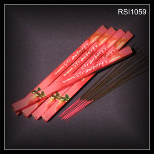 8 Räucherstäbchen aus INDIEN tolles Aroma Yoga Feng Shui STRAWBERRY RSI1059