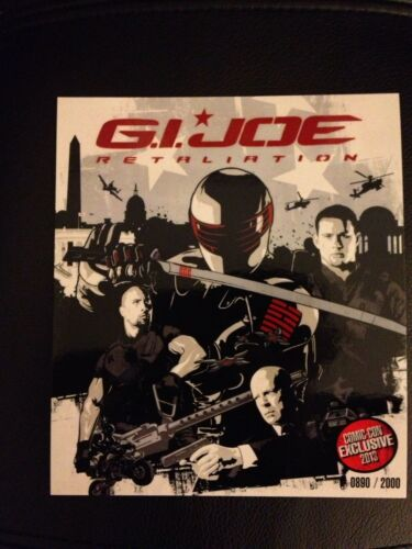 SDCC 2013 G.I JOE RETALIATION MOVIE CARD EXCLUSIVE COMIC CON # TO 2000 RARE