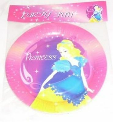 4 Packs Of 6 Princess Plates - 2 Packs Of 9'' 2 Packs Of 7'' (mi211x2+mi205x2)