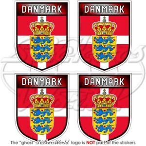 DENMARK-Danish-Shield-50mm-2-034-Bumper-Helmet-Stickers-x4