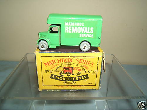 Matchbox Moko Lesney Modelo No.17a Bedford Removal Van VN MIB