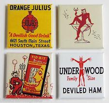 Devil Food FRIDGE MAGNET Set (2 x 2 inches each)