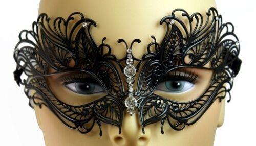 Women Elegant Light Metal laser Cut Venetian Masquerade Mask with Diamonds