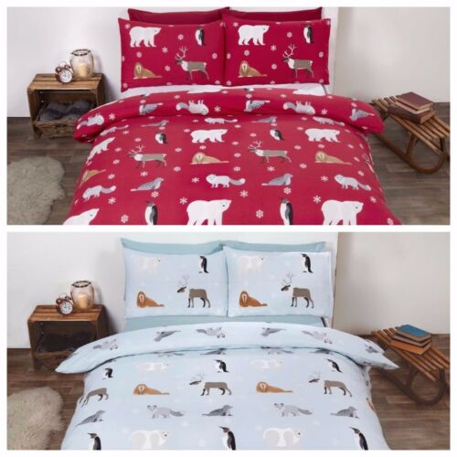 Red or Ice. Bedding Heaven Flannelette Duvet Cover Set ANIMALS