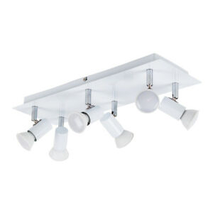 Modern-Gloss-White-and-Chrome-6-Way-Kitchen-Ceiling-Spot-Light-Spotlight-Fitting