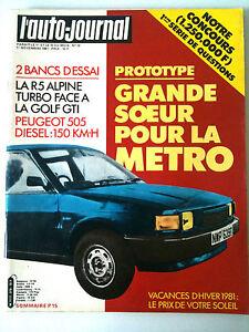 L-039-AUTO-JOURNAL-n-19-de-11-1981-La-renault-5-Alpine-face-Golf-GTI-Pub-Hallyday
