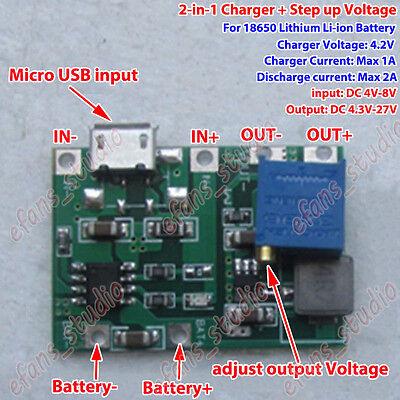 TP5100 1S 2S 3.7V 7.4V Lithium Lipo 18650 Battery Charger Charging Module 5V-12V