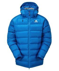 Details zu Mountain Equipment Lightline Jacket Men Herren Daunenjacke mit Kapuze azure