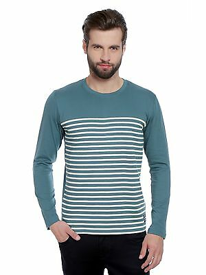 Cult Fiction men's Vintage Blue Round Neck Cotton T-Shirt (CFM30VB921)