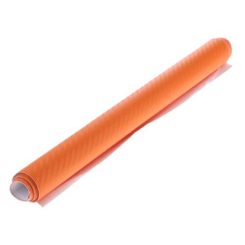 Brand New Shiny Glossy Film Wrap Decal Car Sticker Sheet Orange