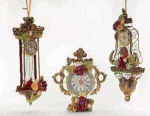 Goodwill Christbaumschmuck L21cm Barock Uhr 3erset Katherines