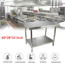 Stainless Steel Top Food Safe Prep Table Utility Work Bench 402832 Inches