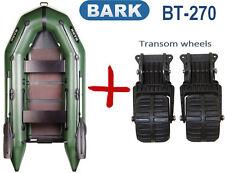 8,8ft Bark BT-270 + Transom Wheels Inflatable powerboat fishing boat