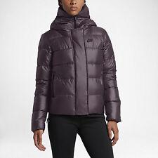 NEW NIKE SPORTSWEAR Womens Down Fill Purple Medium Winter Hooded Jacket 815723