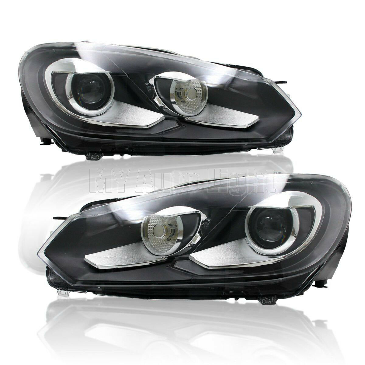 For 2010 2012 Vw Golf Mk6 Gti Headlights With Bi Xenon Projector And Turn Signal Ebay