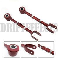 Red Fits 03-08 350z Z33 03-06 G35 Rear Toe Arm Adjustable Alignment Suspension