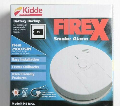 4 packs kidde i4618 Firex Hardwired Smoke Alarm