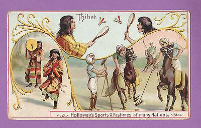 THOMAS  HOLLOWAY  LTD.  -  RARE SPORTS & PASTIMES CARD  -  THIBET  -  1900