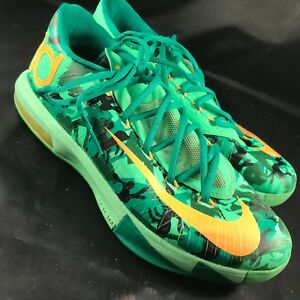 huge discount 03a4e 0390b Image is loading Nike-KD-VI-6-Easter-Green-Mango-Size-