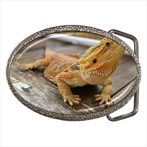 Bearded Dragon Lizard Chrome Finished Belt Buckle