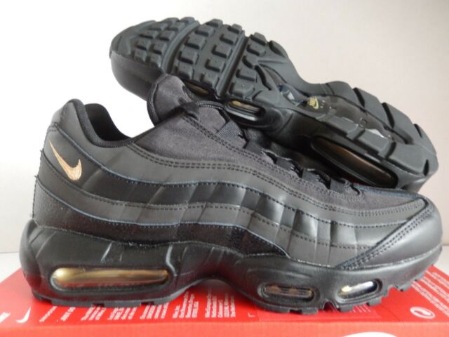 99c2e58a6c Mens Nike Air Max 95 Premium SE Black Metallic Gold 924478-003 US 9 ...