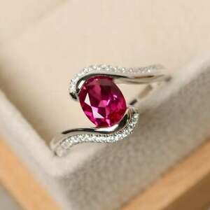 925-Sterling-Silver-Natural-Certified-6-Ct-Ruby-Handmade-Engagement-Ring-For-Her
