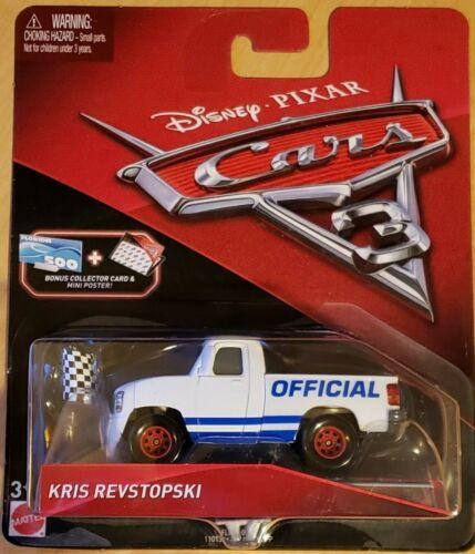 Disney Pixar Cars 3 Kris Revstopski Bonus Collector Card /& MiniPoster
