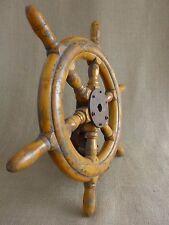 Antico VINTAGE WOODEN Ships RUOTA BARCA YACHT VELA CASA ORIGINALE ART DECO