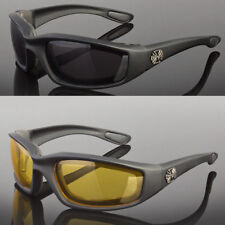 35f37e1a4d3b 2 PR COMBO Chopper Padded Wind Resistant Sunglasses Motorcycle Riding  Glasses X2