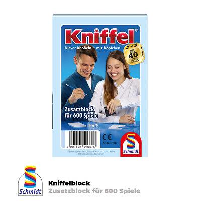Schmidt Spiele Kniffelblock für 600 Spiele Zusatzblock Knobelblock  Ersatzblock