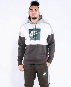 NWT Nike Sportswear NSW Air Fleece Hoodie Sweatshirt (886046-072) Sz ... 3cac7acd13