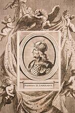 gravure XVIII°, Frederico III de Habsbourg, Empereur Romain Germanique