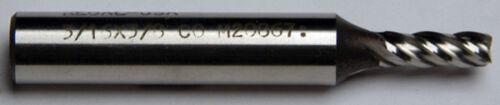 D-2-7-7-7 3//16 X 3//8 X 1//2 X 2-3//8 4FL CENTER CUT COLBALT END MILL