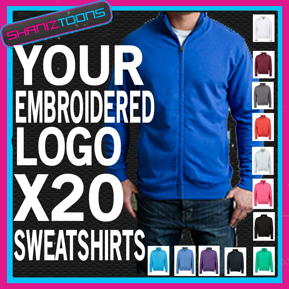WORKWEAR BUSINESS COMPANY ZIPPED SWEATSHIRT EMBROIDErot FULL COLOUR LOGO X20   | Attraktive Mode