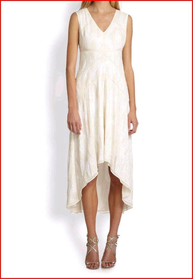 BCBG MAXAZRIA SALMA GARDENIA COMBO HI-LO SEQUIN DRESS Größe 10 NWT -RackT 18