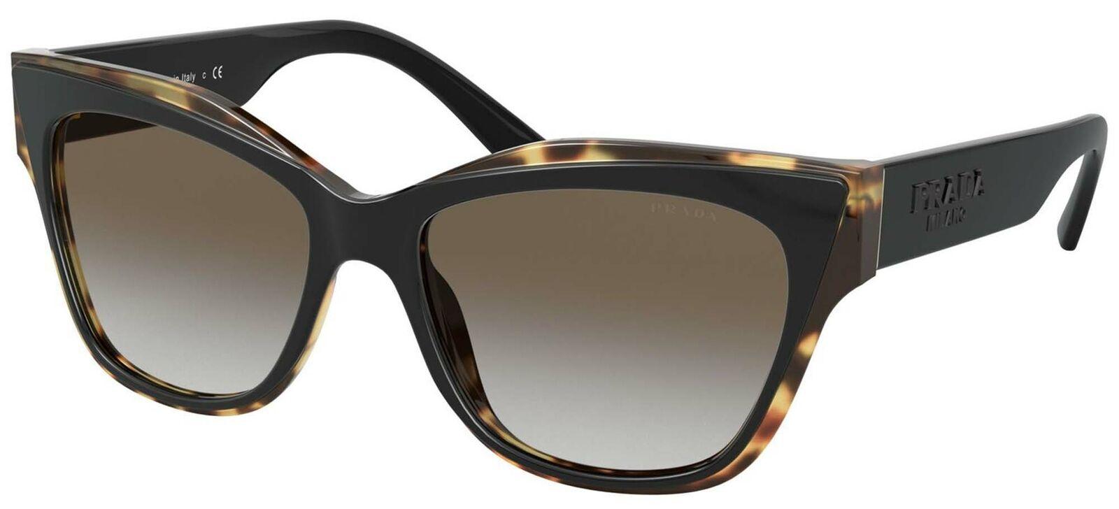 Prada PR 23XS Black Blonde Havana/Grey Shaded 53/16/140 women Sunglasses